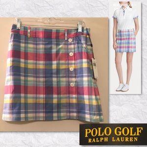 Polo Ralph Lauren Golf Skort Skirt Madras Plaid